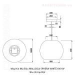 MALLOCA SPHERA WHITE-I001W
